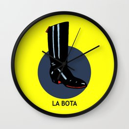 La Bota Mexican Loteria Card Wall Clock