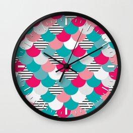 Scale Pattern Wall Clock