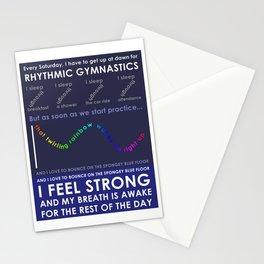 Rhythmic Gymnastics Stationery Cards