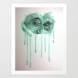 Albert - GREEN Art Print