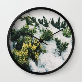 Winter in spring Wall Clock