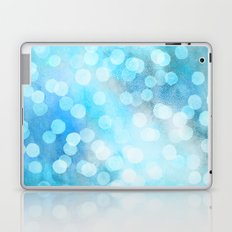 Turquoise Snowstorm - Abstract Watercolor Dots Laptop & iPad Skin