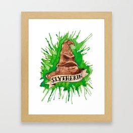 House Splatter - Slytherin Framed Art Print