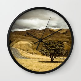 Roadway Landscape Wall Clock