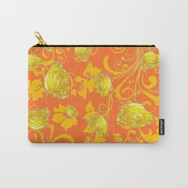 AWESOME CUMIN ORANGE & YELLOW ROSE SCROLLS  ART Carry-All Pouch