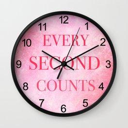 P!nk Galaxy Wall Clock