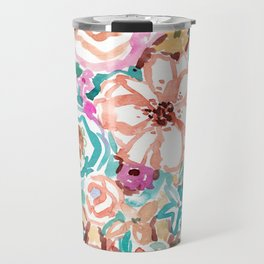 SMELLS LIKE COFFEE BY THE OCEAN Floral Travel Mug