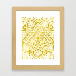 Pure Gold Framed Art Print