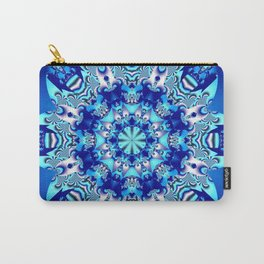 The blue snowflake Carry-All Pouch
