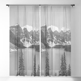 Moraine Lake | Black and White | Landscape Photography | Wildernest Sheer Curtain