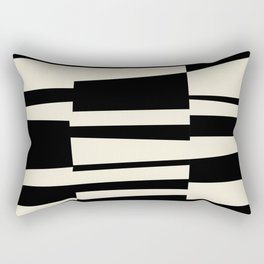 BW Oddities II - Black and White Mid Century Modern Geometric Abstract Rectangular Pillow