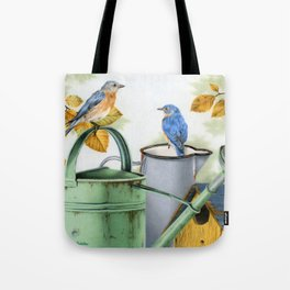 Autumn Visitors Tote Bag