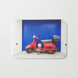 Red Vespa Bath Mat