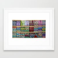fabric Framed Art Prints featuring FABRIC by Louisa Rogers