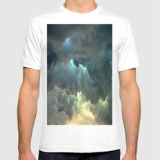 Seeing Thunder White MEDIUM Mens Fitted Tee