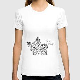 Kitten high five T-shirt