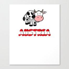 Austria shirt skiing Alps Tyrol Canvas Print