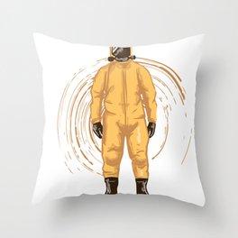 Suit orange Throw Pillow