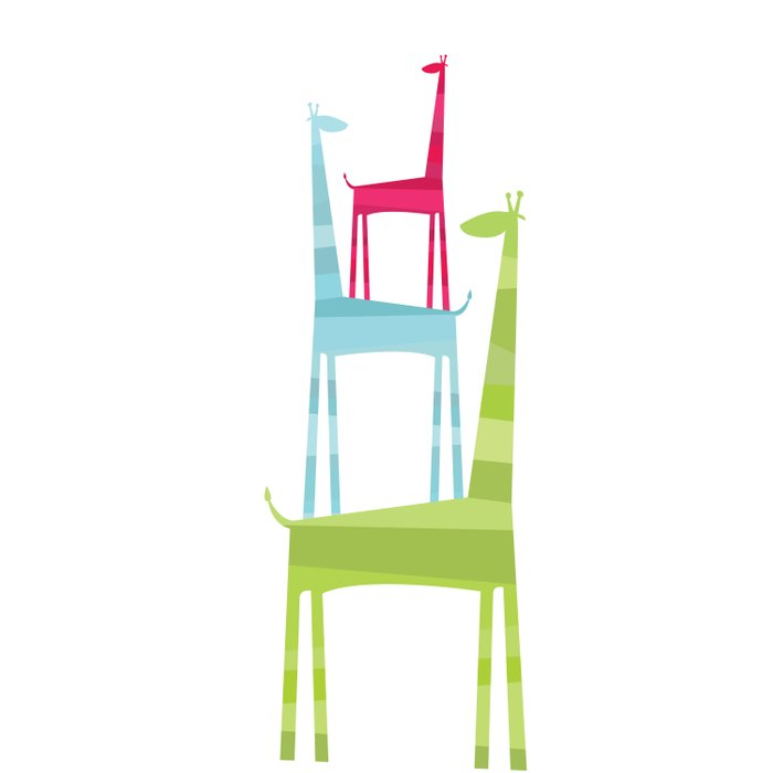 Giraffe Trio Duvet Cover