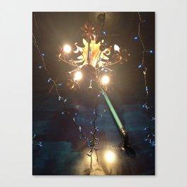 Glowing Flower Chandelier   Canvas Print