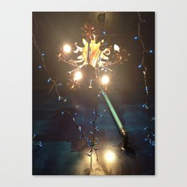 Glowing Flower Chandelier   Canvas Print