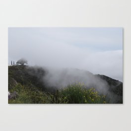 Fog Rising Up Through A Temple Moonfire Two Canvas Print