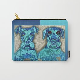 Brother Dogs Blue Carry-All Pouch