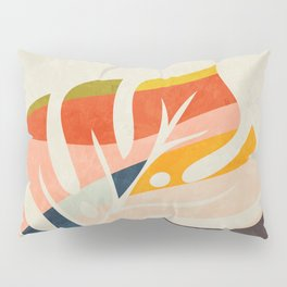 shape leave modern mid century Pillow Sham