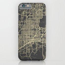 Tucson Map yellow iPhone Case