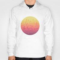 skyline Hoodies featuring Skyline by Rick Crane
