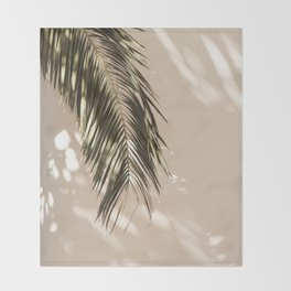 tropical palm leaves vi Throw Blanket