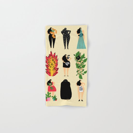 All of us live here Hand & Bath Towel