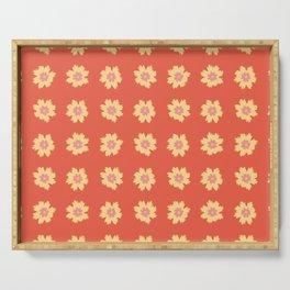 Simple Tickseed Flower Pattern  Serving Tray