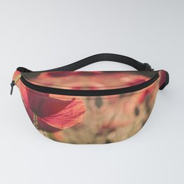 Poppies meadow Flower Flowers Floral Summer Fanny Pack