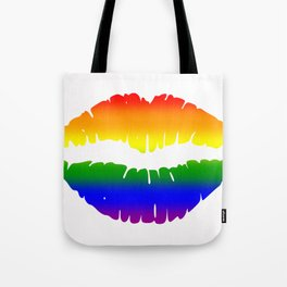 Rainbow Lips (LGBT, LGBTQ) Tote Bag