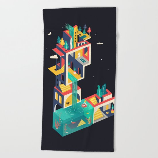 Labyrinth  Beach Towel