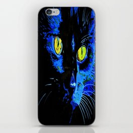 Marley The Cat Portrait With Striking Yellow Eyes iPhone Skin