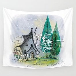 Wind in the poplars Wall Tapestry