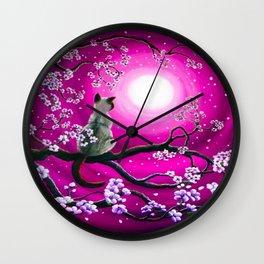 MOONLIGHT-PINK Wall Clock
