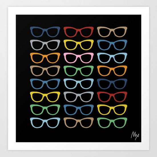 Sunglasses at Night Art Print