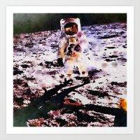 walk the moon Art Prints featuring Moon Walk by Washington DC