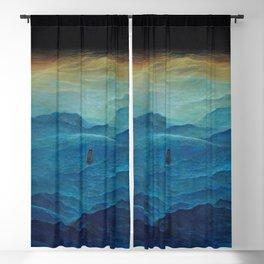 Untitled (Waves) by Zdzisław Beksiński Blackout Curtain