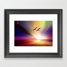 Particularly colorful sunset. Framed Art Print
