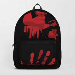 Bloody Handprints Horror Design Backpack