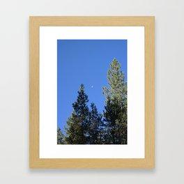 Morning Moon Framed Art Print