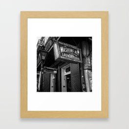 Washateria Framed Art Print