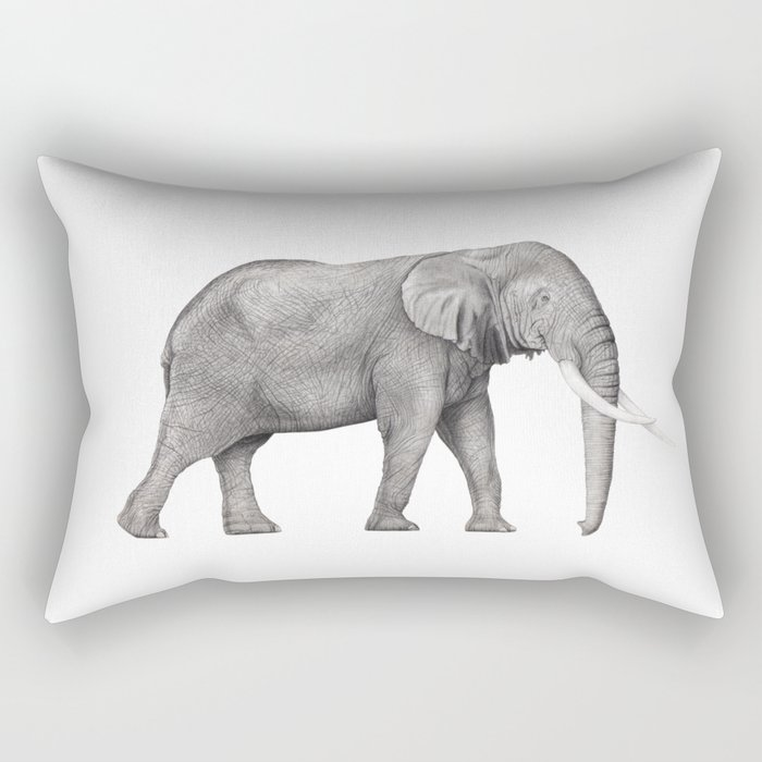 Bull Elephant  Rectangular Pillow