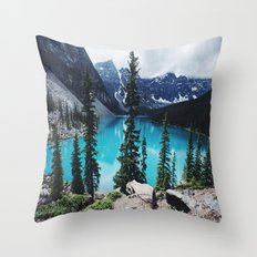 Lake Moraine Alberta Throw Pillow