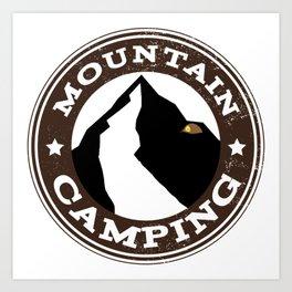 Mountain Camping Art Print