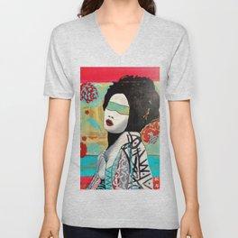 """Color Blind Series  """"Geisha"""" Unisex V-Neck"""